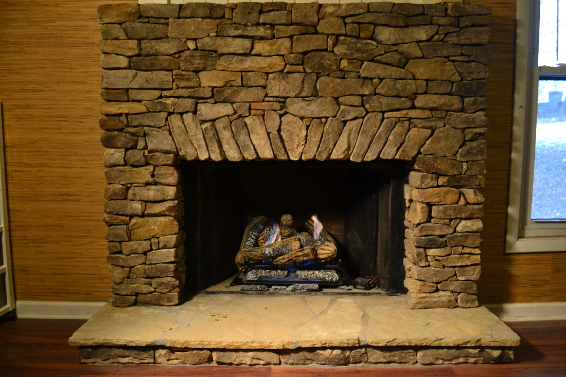Tennessee Fieldstone Fireplace : Living stone masonry asheville nc