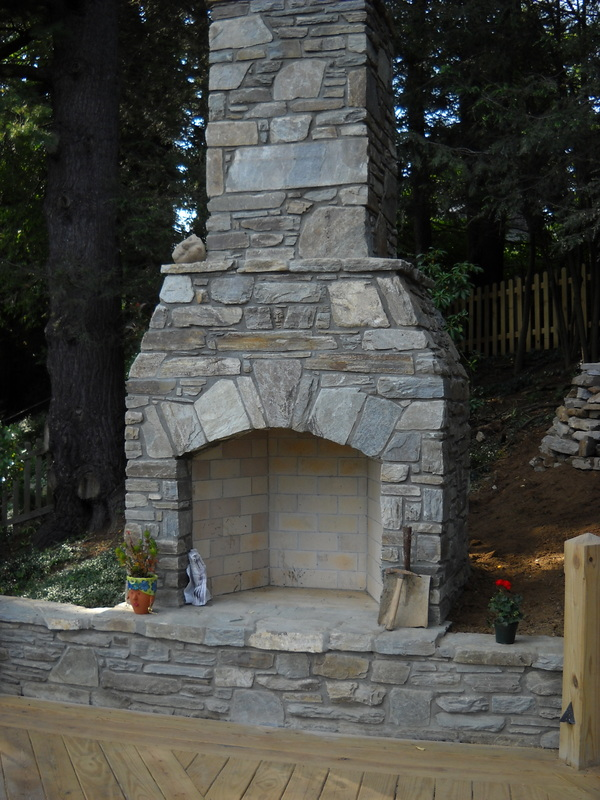 This Outdoor Fireplace In Boone Nc Makes Deck Feel More Like An Living Room